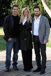"11.11.2011, Casa del Cinema, Villa Borghese, ITA, Fototermin bei den Dreharbeiten für den Kurzfilm Amore Nero, der Film erzählt von der Gewalt gegen Frauen und Stalking, im Bild  Raul BOVA, Michelle HUNZIKER and Giorgio MARCHESE // attend the photocall of the short film ""Amore Nero"", ""Amore Nero"" talks about violence against women and stalking. Casa del Cinema, Villa Borghese, Italy on 11/11/2011. EXPA Pictures © 2011, PhotoCredit: EXPA/ Insidefoto/ Andrea Staccioli..***** ATTENTION - for AUT, SLO, CRO, SRB, SUI and SWE only *****"