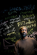 Photograph of Lester Spence Associate Professor of Political Science and Africana Studies at Johns Hopkins University for Hopkins Magazine on 11/10/15