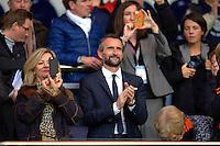 Jean Claude Blanc - 28.03.2015 - Paris Saint Germain / Glasgow City FC - 1/4Finale retour Champions League<br /> Photo : Andre Ferreira / Icon Sport