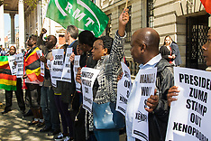 2015-04-21 Anti-xenophobia demonstration at South African embassy, London