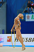 "Kudryavtseva Yana of Russia competes during the rhythmic gymnastics individual of the World Cup at Adriatic Arena on April 1, 2016 in Pesaro, Italy. Yana ""The Queen"" is a Russian gymnast born in Moscow on 30 September 1997. Until her retirement in 2017 was one of atllete most awarded in the history of rhythmic gymnastics."