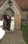 Bride and groom. Marriage of Emily Mortimer, ( daughter of John Mortimer ) to Alessandro Nivola, Turville.© Copyright Photograph by Dafydd Jones 66 Stockwell Park Rd. London SW9 0DA Tel 020 7733 0108 www.dafjones.com