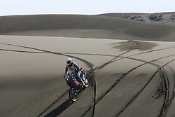 Slovenian Enduro Biker Miran Stanovnik competes during 31st rally Dakar - 2009 edition, across Argentina and Chile, on January 8, 2009, in Argentina. (Photo by Maindru Photo)