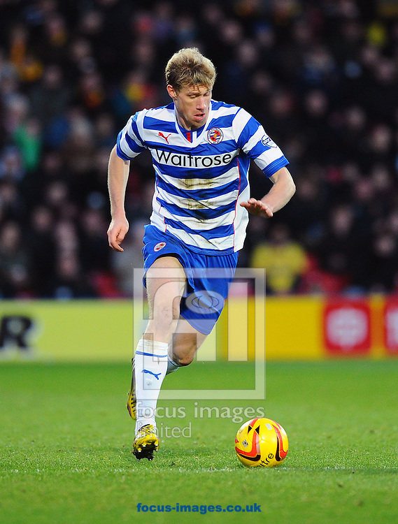 Picture by Seb Daly/Focus Images Ltd +447738 614630<br /> 11/01/2014<br /> Pavel Pogrebnyak of Reading during the Sky Bet Championship match at Vicarage Road, Watford.