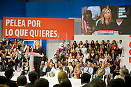Meting of the opening of the election campaign of the Spanish Socialist Party (PSOE).Elena Valenciano.