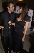 Roland Mouret and Saffron aldridge. British Fashion awards 2005. V. & A. Museum. Cromwell Rd. London.   10  November 2005 . ONE TIME USE ONLY - DO NOT ARCHIVE © Copyright Photograph by Dafydd Jones 66 Stockwell Park Rd. London SW9 0DA Tel 020 7733 0108 www.dafjones.com