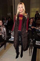 © Licensed to London News Pictures. 19/02/2016. LAURA WHITMORE attends the FELDER FELDER Autumn/Winter 2016 show. Models, buyers, celebrities and the stylish descend upon London Fashion Week for the Autumn/Winters 2016 clothes collection shows. London, UK. Photo credit: Ray Tang/LNP