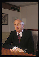 David Ivor Young, Baron Young of Graffham, Secretary of State for Trade and Industry. 1989 for Fortune Magazine France.