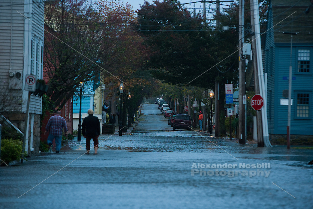 """Newport, Ri - """"The point"""" flooding on Third st. from Marsh to Elm during Hurricane or """"superstorm"""" Sandy"""
