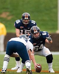 Virginia Cavaliers C Jack Shields (64)..The University of Virginia Football Team played their Spring game at Scott Stadium in Charlottesville, VA on April 14, 2007.