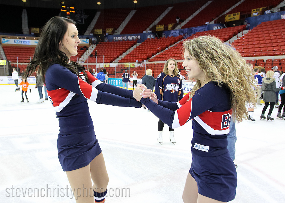 January 19, 2014: The Oklahoma City Barons play the Milwaukee Admirals in an American Hockey League game at the Cox Convention Center in Oklahoma City.