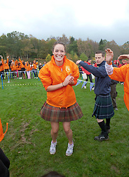 Miss Scotland Jennifer Reochs team wins the relay race..The Miss World 2011 contestants take part in Highland Games in the grounds of Crieff Hydro, Perthshire..MISS WORLD 2011 VISITS SCOTLAND..Pic © Michael Schofield.