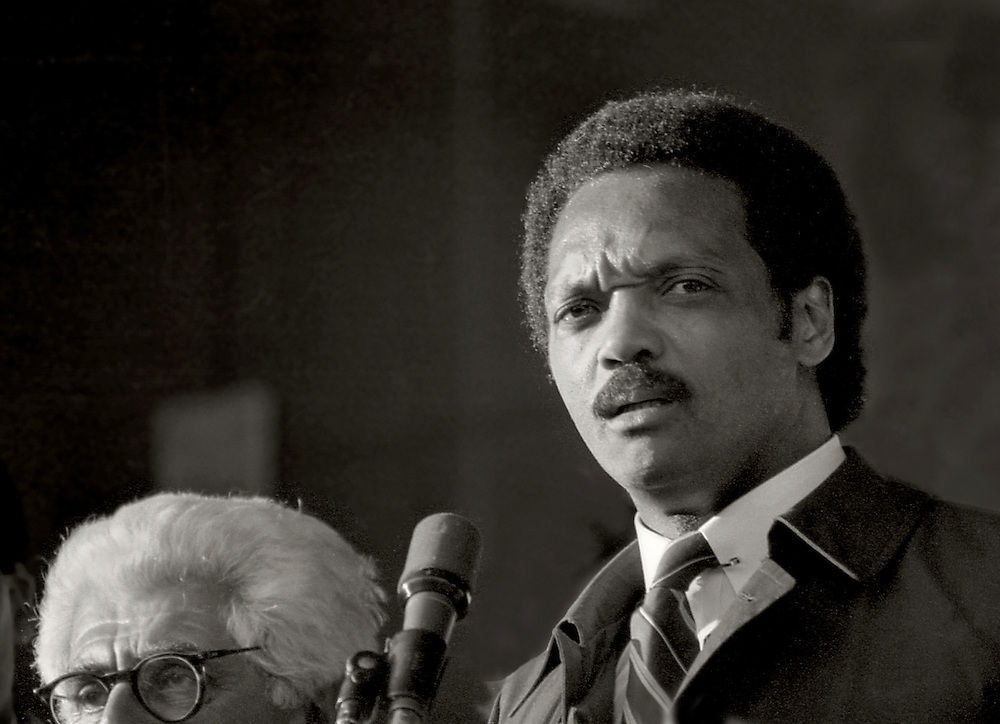 "From the ""Jesse Jackson Harlem Rally"" in 1984. Jesse was running for president. Barry Commoner was his vice-president."
