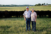 Melvin and Jannie Lou Meadows. Ranchers, landowners, pioneers. My American Gothic. Paradise, Texas, 2008.