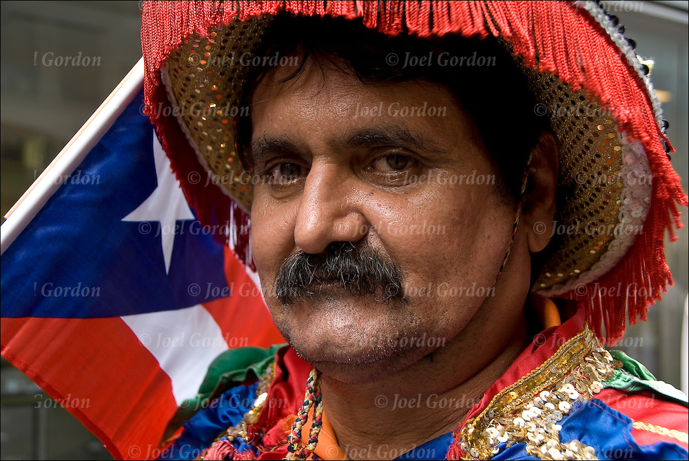 Puerto Rican Americans from Moca , north-western region of the island wearing their traditional folk regalia for the Puerto Rican Day Parade Day Parade.