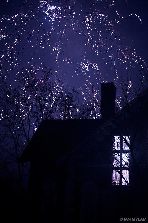 Midnight on New Year's Eve - Odense, Denmark