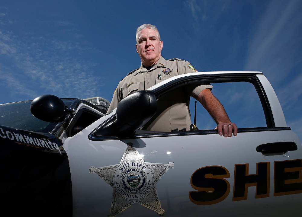 Josephine County Sheriff Dave Daniel photgraphed in Grants Pass, Ore., on Thursday April 21, 2016.