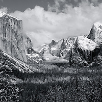 My attempt at Ansel Adams's Clearing Winter Storm, Yosemite from Tunnel View.