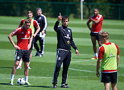 CARDIFF, WALES - Thursday, June 2, 2016: Wales' manager Chris Coleman during a training session at the Vale Resort Hotel ahead of the International Friendly match against Sweden. (Pic by David Rawcliffe/Propaganda)