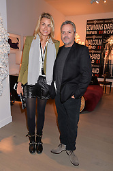 ISABELLE BSCHER and NELLEE HOOPER at the PAD London 2014 VIP evening held in the PAD Pavilion, Berkeley Square, London on 14th October 2014.