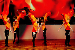 Dance group performs at Slovenian Sportsman of the year and Slovenian Sportswoman of the year 2011 annual awards presented on the base of Slovenian sports reporters, on December 21, 2011 in Cankarjev dom, Ljubljana, Slovenia. (Photo By Vid Ponikvar / Sportida.com)