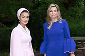Koningin Maxima en Sheikha Moza bint Nasser bij  Global Justice