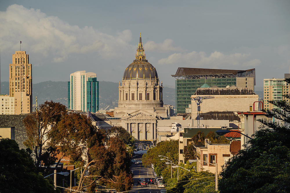 San Francisco, California, City Hall, is a Beaux-Arts monument to the City Beautiful movement designed by Bakewell & Brown