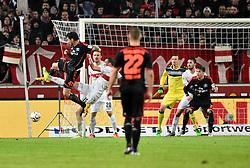 30.12.2015, Mercedes Benz Arena, Stuttgart, GER, 1. FBL, VfB Stuttgart vs Hamburger SV, 19. Runde, im Bild Torchance Chance von Gojko Kacar HSV Hamburg Hamburger SV gegen Kevin Grosskreutz VfB Stuttgart Zweikampf, Aktion // during the German Bundesliga 19th round match between VfB Stuttgart and Hamburger SV at the Mercedes Benz Arena in Stuttgart, Germany on 2015/12/30. EXPA Pictures © 2016, PhotoCredit: EXPA/ Eibner-Pressefoto/ Weber<br /> <br /> *****ATTENTION - OUT of GER*****