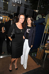 Left to right, TRISH SIMONON and BELLA FREUD at the Natural Beauty Honours 2008 hosted by Neal's Yard Remedies, 124b King's Road, London SW3 on 4th September 2008.<br /> <br /> NON EXCLUSIVE - WORLD RIGHTS