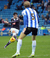 George Thorne of Derby County shoots during the Sky Bet Championship match at Hillsborough, Sheffield<br /> Picture by Graham Crowther/Focus Images Ltd +44 7763 140036<br /> 06/12/2015