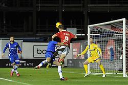 Bristol City's Matt Smith takes a shot at goal. - Photo mandatory by-line: Dougie Allward/JMP - Mobile: 07966 386802 - 29/01/2015 - SPORT - Football - Bristol - Ashton Gate - Bristol City v Gillingham - Johnstone Paint Trophy
