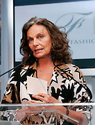 CFDA President Diane Von Furstenberg speaks at the 2008 CFDA Fashion Awards Nominee Announcement in the Rooftop Gardens at Rockefeller Center in New York City, USA on March 10, 2008.