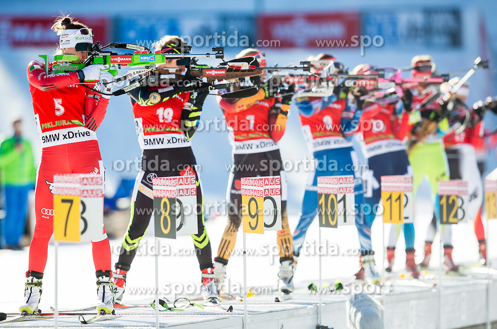 OBERHOFER Karin (ITA), BOLLIET Marine (FRA) compete during Women 12,5 km Mass Start at day 4 of IBU Biathlon World Cup 2014/2015 Pokljuka, on December 21, 2014 in Rudno polje, Pokljuka, Slovenia. Photo by Vid Ponikvar / Sportida