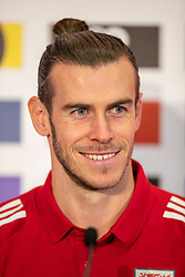 CARDIFF, WALES - Monday, November 18, 2019: Wales' captain Gareth Bale during a press conference at the Vale Resort ahead of the final UEFA Euro 2020 Qualifying Group E match against Hungary. (Pic by David Rawcliffe/Propaganda)