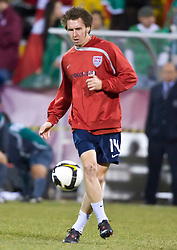 United States defender Danny Califf (14).  The United States men's soccer team defeated the Mexican national team 2-0 in CONCACAF final group qualifying for the 2010 World Cup at Columbus Crew Stadium in Columbus, Ohio on February 11, 2009.