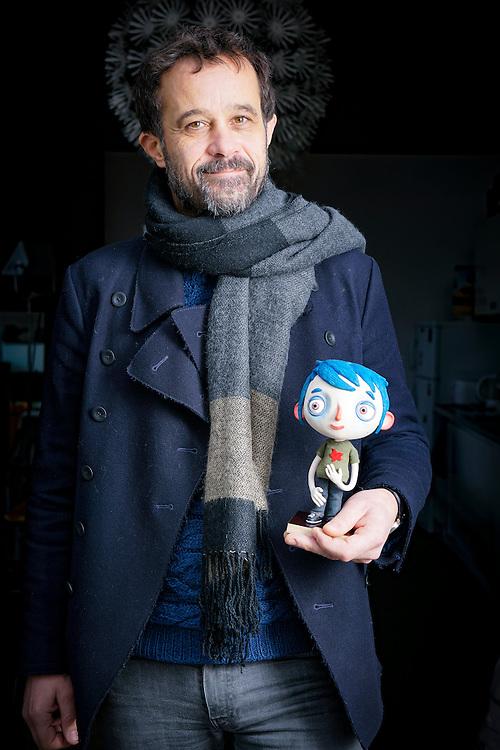 Claude Barras, n&eacute; en 1973, est un r&eacute;alisateur de film d'animation suisse. A vec son film d'animation &gt; il re&ccedil;ois de nombreux prix. Lausanne f&eacute;vrier 2017.<br /> &copy; Nicolas Righetti / Lundi13