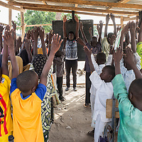 The displaced get organized alone to provide a school education to children.