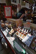 Granville Island Market. Chili hot sauce vendor.