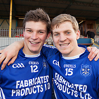 Cratloe's Liam Markham and Padraic Collins after their County Football Final WIn