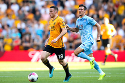 Diogo Jota of Wolverhampton Wanderers goes past Jack Cork of Burnley - Mandatory by-line: Robbie Stephenson/JMP - 25/08/2019 - FOOTBALL - Molineux - Wolverhampton, England - Wolverhampton Wanderers v Burnley - Premier League