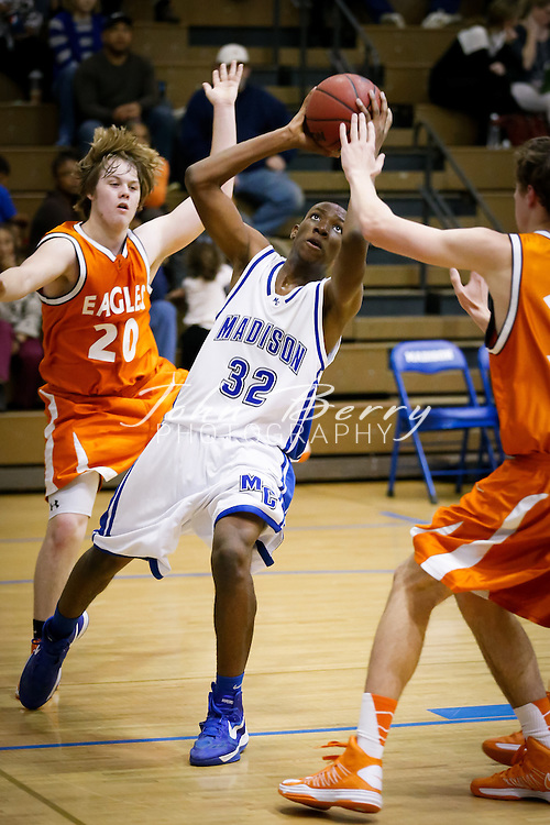 February/5/13:  MCHS JV Boys Basketball vs Clarke Eagles.  Madison wins 50-49.