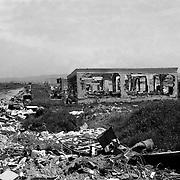 Some homes still remid of the war and its effects.