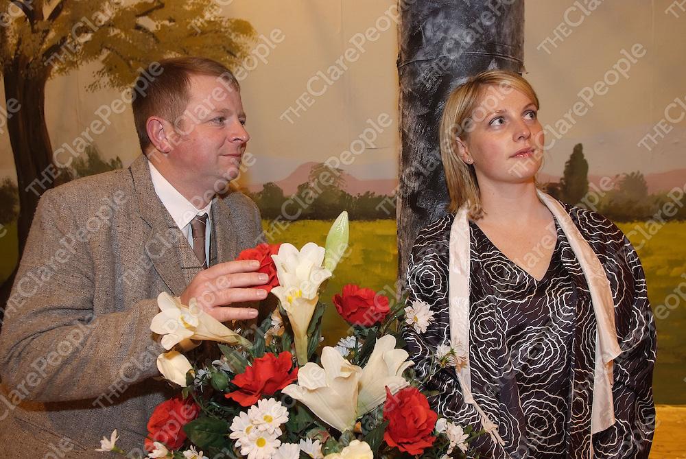 Pictured during the Ennistymon Musical Society Dress Rehearsal in Lachinch were: Mark Kelly, Caroline Kennedy. Pictured Credit: Jarek Dudek/Press22