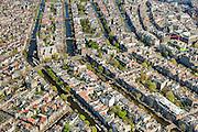 Nederland, Noord-Holland, Amsterdam, 09-04-2014;<br /> Binnenstad en grachtengordel (vlnr Prinsengracht, Keizersgracht, Herengracht, Singel). Westertoren en Westerstraat links midden, de Raadhuisstraat loopt naar De Dam, rechtsboven met het Paleis op de Dam en de Nieuwe Kerk.<br /> Detailed view on center and canals of Amsterdam. Westerkerk (church, left center)<br /> luchtfoto (toeslag op standard tarieven);<br /> aerial photo (additional fee required);<br /> copyright foto/photo Siebe Swart
