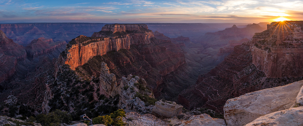 Sunset at Cape Royal, North Rim Grand Canyon NP, AZ, USA