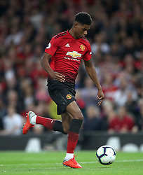 Manchester United's Marcus Rashford during the Premier League match at Old Trafford, Manchester