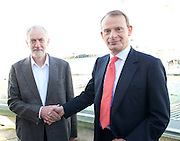 Labour Party Annual Conference, Brighton Centre, Brighton, East Sussex , Great Britain <br /> 27th September 2015 <br /> <br /> Jeremy Corbyn arriving for the Andrew Marr show <br /> <br /> <br /> Photograph by Elliott Franks <br /> Image licensed to Elliott Franks Photography Services