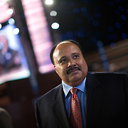 Martin Luther King III on the third day of the Democratic National Committee (DNC) Convention at the Pepsi Center in Denver, Colorado (CO) Wednesday, Aug. 27, 2008.  ..Photo by Khue Bui