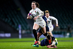 Emily Scarratt of England Women runs with the ball - Mandatory by-line: Robbie Stephenson/JMP - 16/03/2019 - RUGBY - Twickenham Stadium - London, England - England Women v Scotland Women - Women's Six Nations