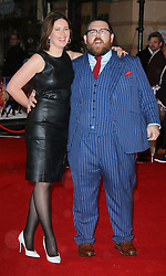 © Licensed to London News Pictures. 06/02/2014, UK. Christina Frost; Nick Frost, Cuban Fury - World Film Premiere, VUE Leicester Square, London UK, 06 February 2014. Photo credit : Richard Goldschmidt/Piqtured/LNP